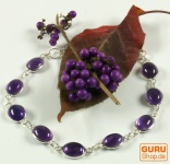 Indisches Silber Armband Amethyst