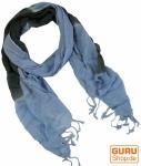 Feiner Baumwollschal mit Farbverlauf blau/grau