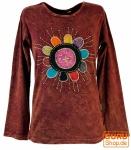 Goa Langarmshirt Stonewash - rostrot