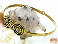 Boho Armreifen, Ethno Armschmuck, Spirale - gold