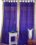 Vorhang, Gardine (1 Paar Vorhänge, Gardinen) aus Sareestoff - violett