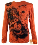 Langarmshirt Ganesh - orange