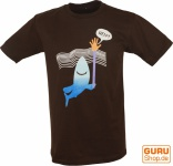 Fun T-Shirt `Help` - braun