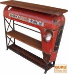 Traktor Regal / Sideboard mit Holzplatte