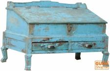 Schreibpult, Truhe aus Vollholz, im Vintage Look - Modell 5
