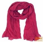 Indisches Baumwolltuch, Schal, Krinkelschal - rosa