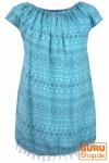 Bali Kinderkleid, Sommerkleid, Trägerkleid, Strandkleid, Mädchenkleid - ozeanblau