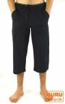 3/4 Yogahose, Goa Hose, Goa Shorts - schwarz