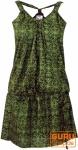 Minikleid in sommerlichem Druck- grün