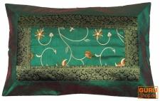 Orientalische Brokat Kissenhülle 70*45 cm - dunkelgrün