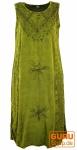 Besticktes Boho Sommerkleid, indisches Hippie Kleid, lemon - Design 19