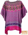 Kaftan, Ibiza-StyleTunika, Boho Bluse, Damen Maxibluse - pink