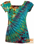 Batik Hippie T-Shirt - türkis