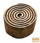 Holz Stempel Spirale des Lebens