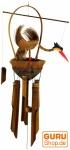 Exotisches Bambus Klangspiel - Vogel Windspiel
