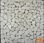 große Mosaikfliese aus weißem Marmor (GM-01)
