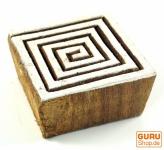 Holz Stempel, von Hand geschnitzt - Spirale des Lebens 1