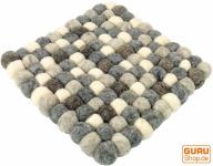 Filz Untersetzer, quadratisch - hellgrau 20*20 cm