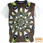 Weed T-Shirt Drittes Auge Mandala - weiß/bunt