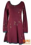 Minikleid, Boho Kleid Leave Organic - bordeaux