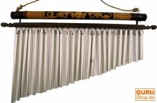 Aluminium Klangspiel, Windspiel mit Bambus - Variante 10