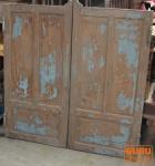 Alte aufgearbeitete Tür mit Patina, massiv, Indien
