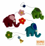 Deko Kette, Elefanten Kette, Filzgirlande - Design 1