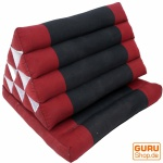 Thaikissen, Dreieckskissen, Kapok, Tagesbett mit 1 Auflage - rot/schwarz