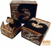 Schmuckkästchen, Holzschachtel in 3 Größen