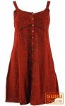 Besticktes indisches Kleid, Boho Minikleid, rostrot - Design 23