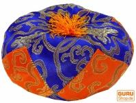 Klangschalen Kissen - blau/orange