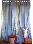 Vorhang, Gardine (1 Paar Vorhänge, Gardinen) aus Sareestoff - grau