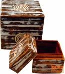 Schmuckkästchen, Holzschachtel in 2 Größen