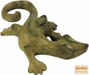 Kleine Deko Figur, Holzfigur, Tierfigur Gecko - Modell 4