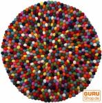 Runder Filzteppich, Bodenmatte aus kleinen Filz Kugeln - Ø 60 cm