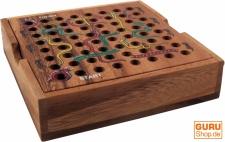 Brettspiel, Gesellschaftsspiel aus Holz - Schlange auf der Leiter