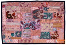 Indischer Wandteppich Patchwork Wandbehang, Einzelstück 100*150 cm