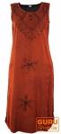 Besticktes Boho Sommerkleid, indisches Hippie Kleid, rot - Design 18