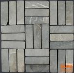 Stäbchen Mosaik Fliesen aus Marmor (P-06)