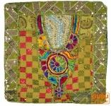 Patchwork Kissenhülle Rajasthan, Einzelstück - 21