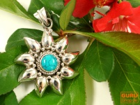 Silberanhänger Sonne 1 Türkis