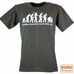 Fun T-Shirt `Evolution` - grau