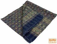Quilt, Steppdecke, Tagesdecke Bettüberwurf, Besticktes Tuch, Indischer Bettüberwurf, Tagesdecke - Muster 13