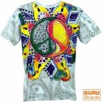 Mirror T-Shirt - Peace weiß/bunt