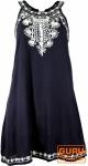 Besticktes Boho Minikleid - nachtblau