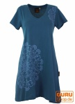 Minikleid Boho chic, Tunika mit Mandala Print - majolica blue