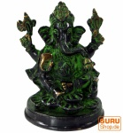 Messingfigur Ganesha Statue 10 cm - Motiv 15
