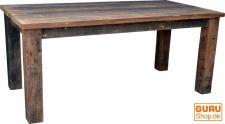 Esstisch aus rustikalen Holzbohlen (JH3-181)