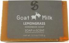 Handgemachte Ziegenmilch Seife, Lemongrass, 100 g, Fair Trade
