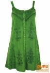 Besticktes indisches Kleid, Boho Minikleid, grün - Design 19